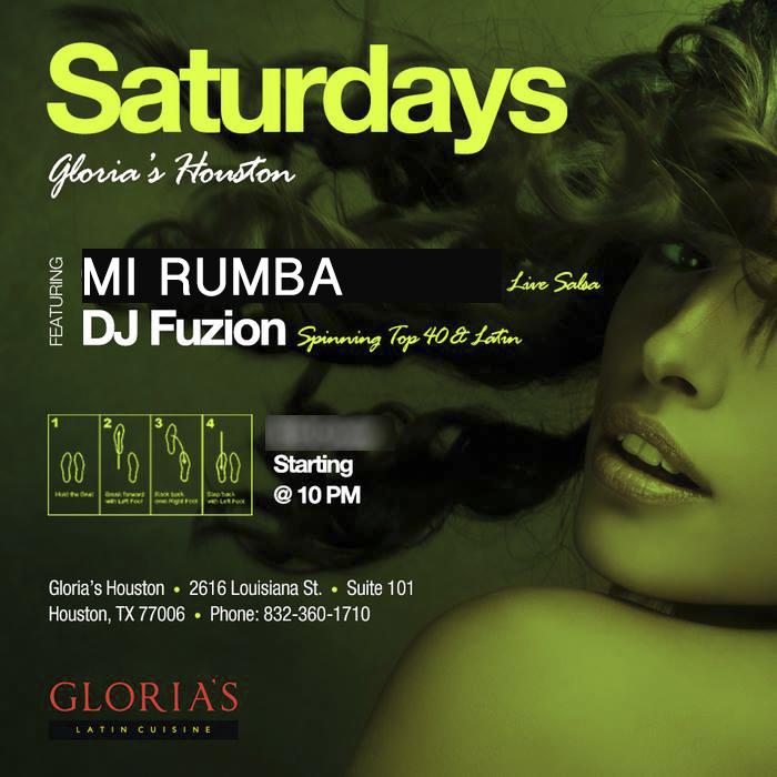dj fuzion at Glorias Latin Cuisine